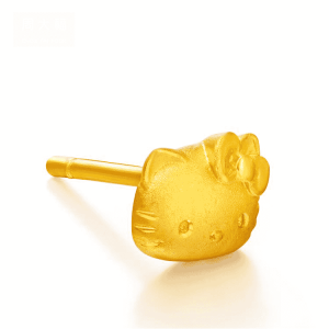 Perhiasan emas berlian solid gold anting Hello Kitty terbaru 24K earring