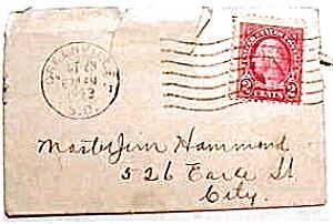 Vintage Letter Party Invitation 1923 Paper And Ephemera
