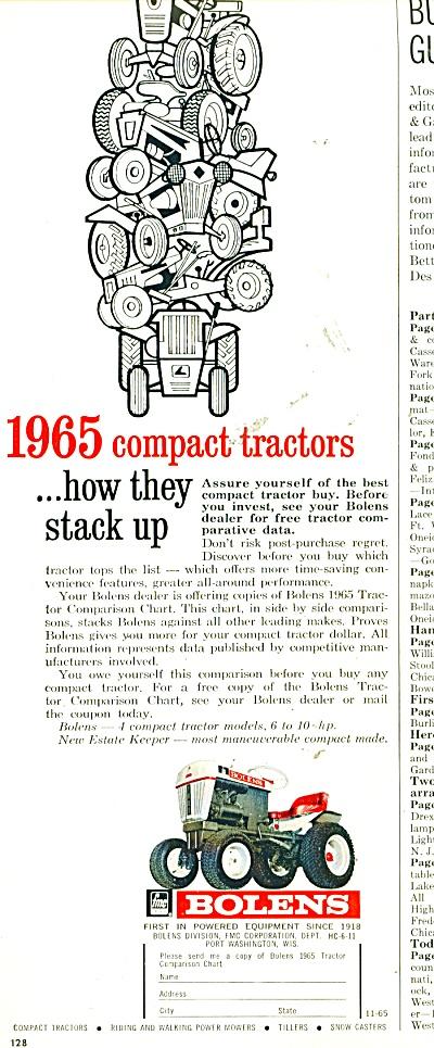 1969 Bolens Tractor Ad - The Satisfier -