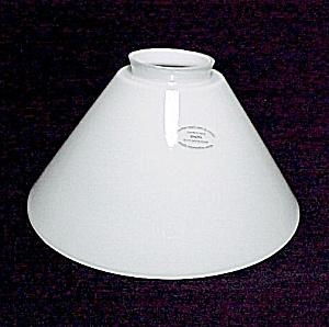 White Vianne Glass Cone Light Lamp Shade 2 1 4 X 8 In