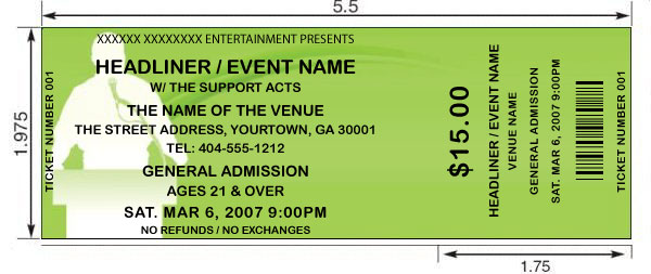 Motivational Event tickets Design and print your own Motivational