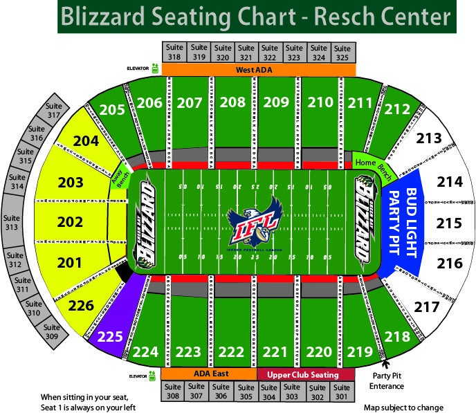 Green Bay Blizzard vs Bemidji Resch Center