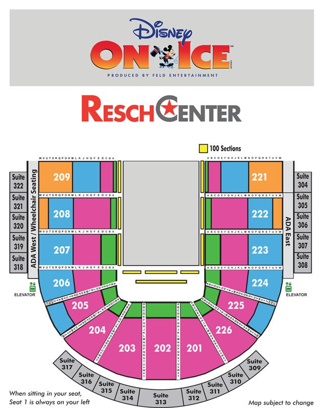 Disney On Ice Presents 100 Years of Magic Resch Center