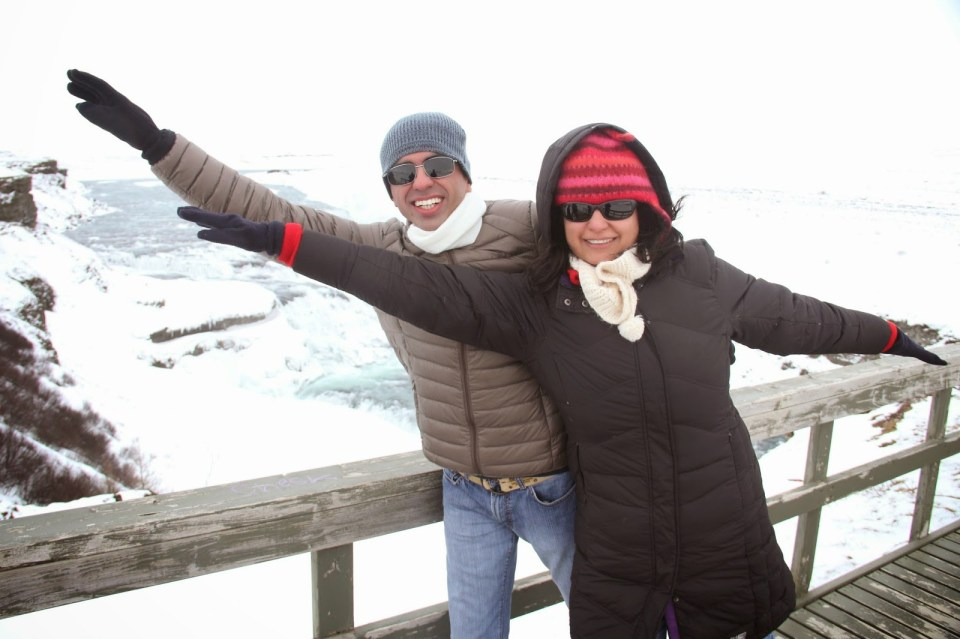 Trying to 'fly' over Gulfoss