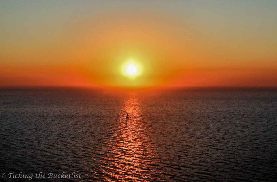 Sunset at Amoudi Bay, Santorini (Greece)