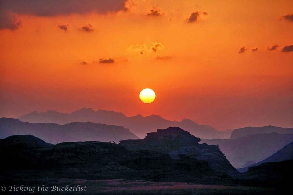 Sunset at Wadi Rum (Jordan)