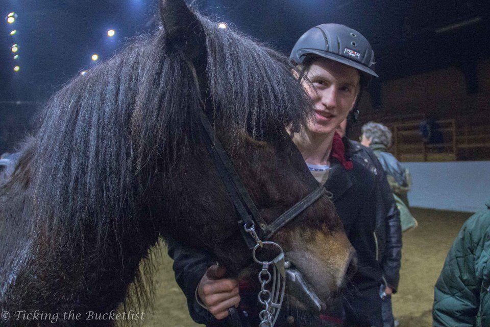 Rider and his horse Hekla, after the show