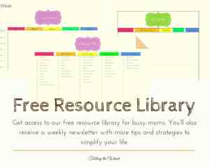 Sign up to access free printables, including a meal planner, cleaning schedule, and gift tracker.
