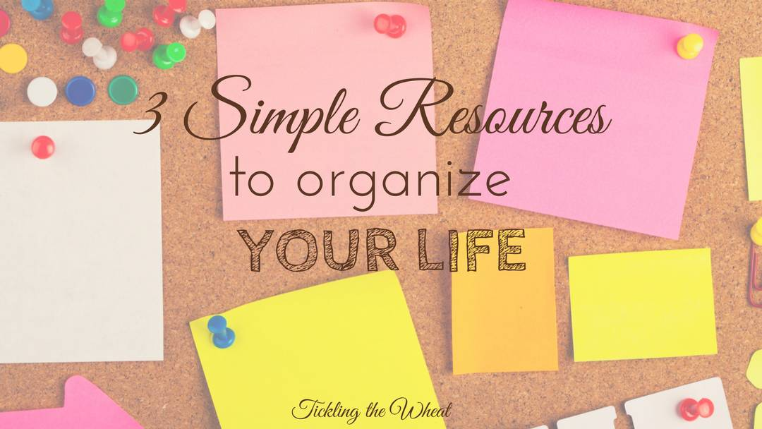 3 Simple Resources to Organize Your Life
