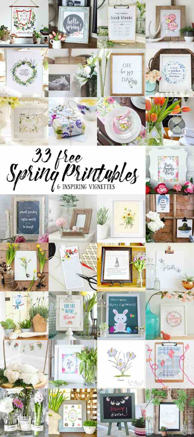 33 Free spring printables for your home and family.