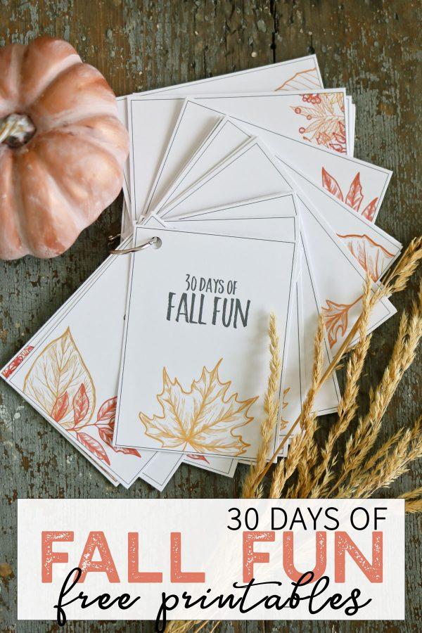 30 Days of Fall Fun Free Printable - Tidbits