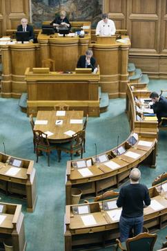 En meget lille del af Folketingets politikere deltog i debatten om B108 den 1. april