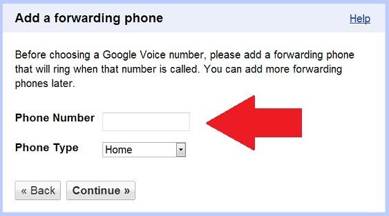 Google Voice Forwarding Number