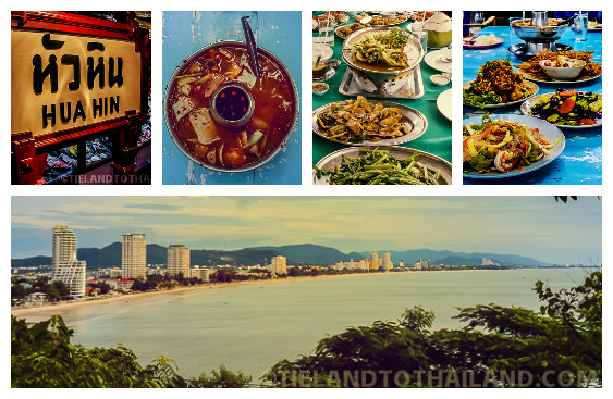 Variety of Seafood in Hua Hin Thailand
