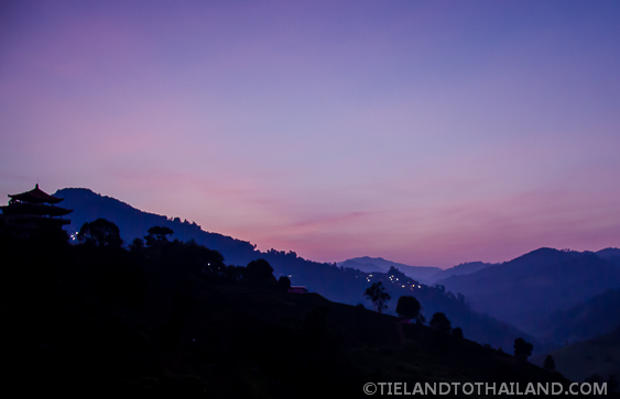 Purple Sunset in Mae Salong, Thailand