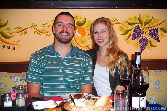 Young expats in Chiang Mai, Thailand out for dinner and drinks