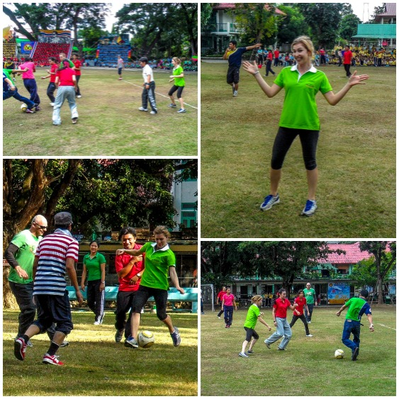 Playing Soccer at my Thai School Sports Day