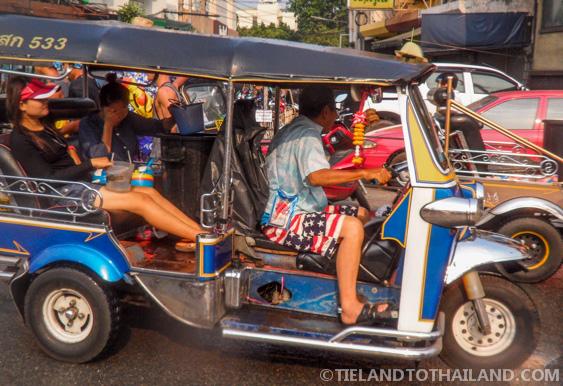 An Easy Target: Songkran Tuk Tuk
