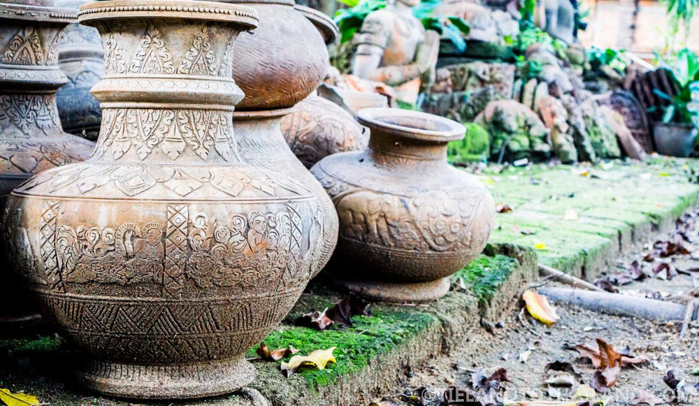Clay pots on display (and for sale) at the Terracotta Arts Garden in Chiang Mai