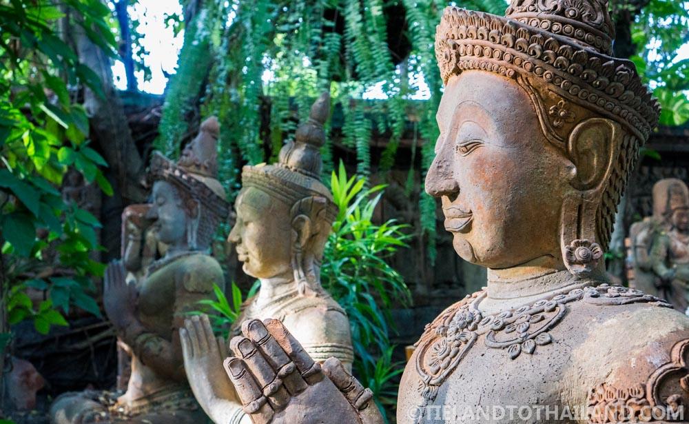 Garden status in the Terracotta Arts Garden in Chiang Mai