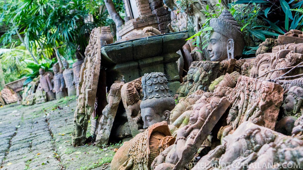 Clay pottery on display at the Terracotta Arts Garden in Chiang Mai