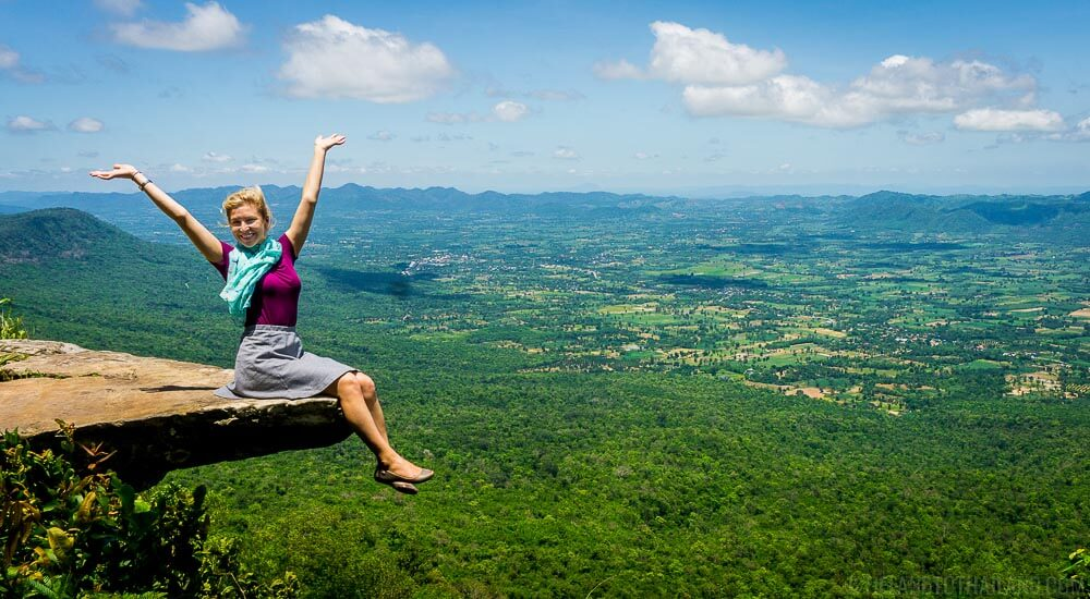 Hum Hod Cliff in Sai Thong National Park in Chaiyaphum