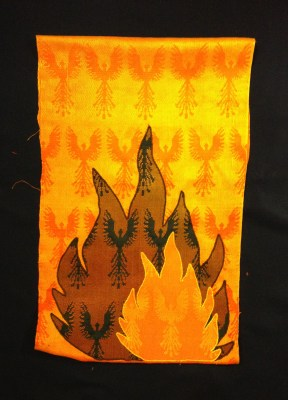 wall hanging - full phoenixes in background