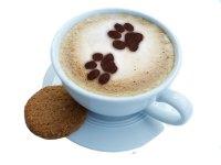 Kaffee Cappuccino Schablone: Hunde / Katzen 2 Pfoten