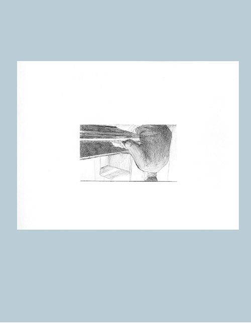 Transcripción para piano (cover), Yasuaki Fuyita, Mega Man 3, Capcom, 1991 [Top Man]. Bolígrafo sobre papel, 28 x 21 cm 2012