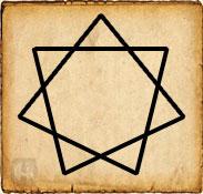 Símbolo celta - Elven - Heptagrama