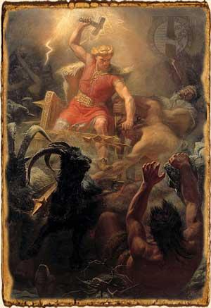 Mitología Nórdica: Thor dios del trueno