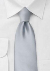 Formal neckties Solid color silver necktie