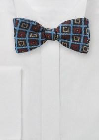 Trendy Medallion Bow Tie in Blue
