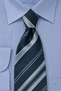 Navy blue striped tie Dark blue necktie with diagonal stripes