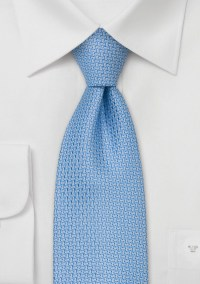 Designer neckties Baby blue silk tie by Chevalier