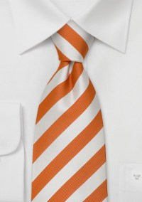 Orange Neckties Orange and white striped tie