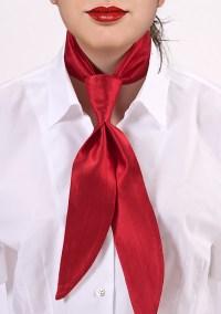 Bright Red Womens Neck Tie