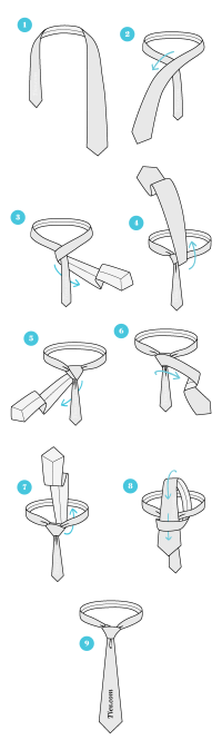 Learn How To Tie A Windsor Knot For Necktie | Howsto.Co