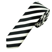 Black and White Striped Skinny Tie from Ties Planet UK