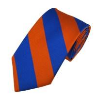 Blue & Orange Striped Boys Tie from Ties Planet UK