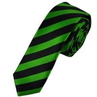 Black & Lime Green Striped Skinny Tie from Ties Planet UK