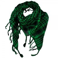 Green & Black Shemagh Arab Fashion Scarf from Ties Planet UK