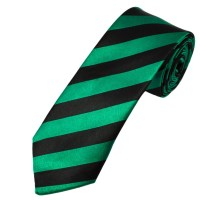 Green & Black Thin Striped Skinny Tie from Ties Planet UK