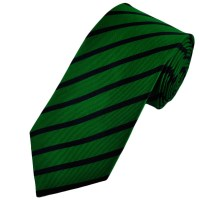Green & Navy Blue Striped Silk Tie from Ties Planet UK