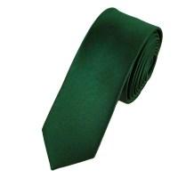 Plain Hunter Green Skinny Tie from Ties Planet UK