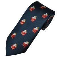 Navy Blue Santa Claus Men's Novelty Christmas Tie from ...