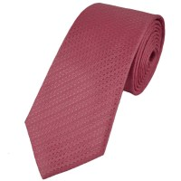Pink Self Striped Silk Narrow Tie from Ties Planet UK