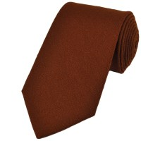 Plain Brown Wool Tie from Ties Planet UK