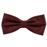 Plain Burgundy Red Bow Tie from Ties Planet UK