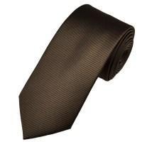 Plain Dark Brown Ribbed Men's Tie